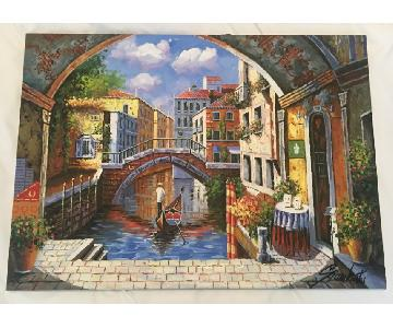 Custom Canvas Painting from Italy
