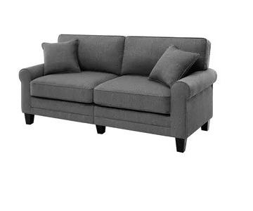 Breakwater Bay Grey Hereford Rolled Arm Sofa