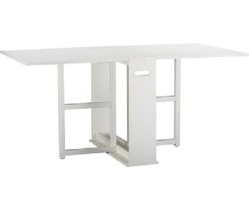 Crate and Barrel Span Gateleg Folding Table