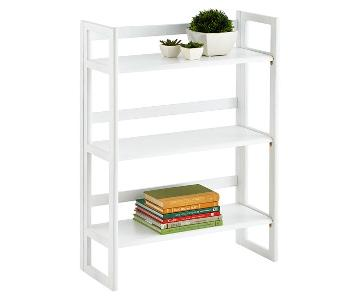 Container Store Stacking Foldable Wood Bookcase