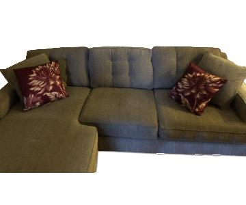 Macy's 3 Piece Sectional w/ Reversible Chaise Lounge