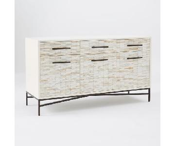 West Elm Media Cabinet/Sideboard in White Lacquer