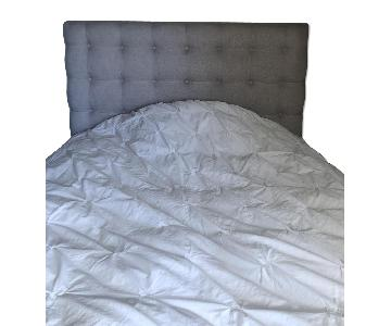 Bloomingdale's Queen Bed Frame w/ Tufted Headboard