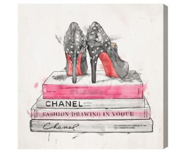 Oliver Gal Pumps and Fashion Books Wall Art