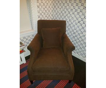 Mitchell Gold + Bob Williams Deep Seated Brown Armchair