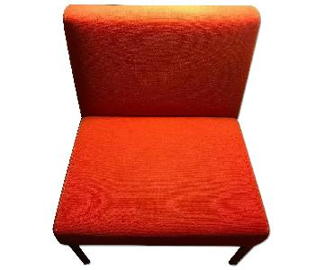 Retro Red Accent Chair