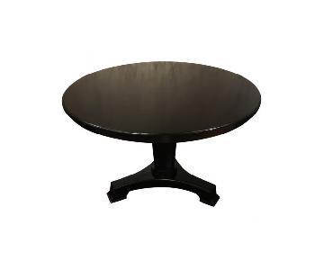 Oly Studio Molly Ebonized Pedestal Dining Table