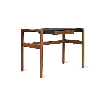 Design Within Reach Risom Leather Top Wooden Office Desk