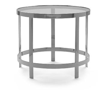 Mitchell Gold + Bob Williams Vega Side Table in Light Grey