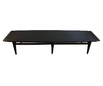 Mid Century Narrow Coffee Table in Black