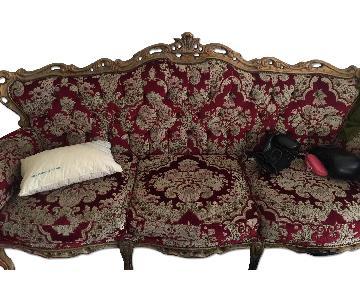 Victorian Style Velvet Loveseat
