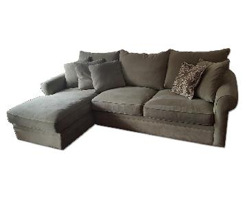 Macy's Modern Concepts Grey 2-Piece Sectional Sofa