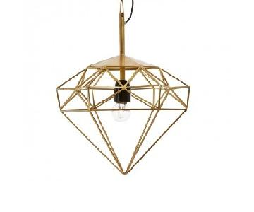 ABC Carpet & Home Diamond Small Pendant Light in Gold Brass