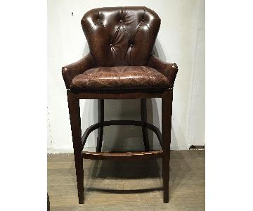 Timothy Oulton Leather Barstool