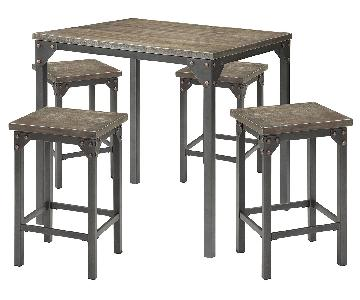 Acme Percie 5-Piece Counter Height Dining Set