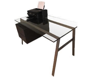 Design Within Reach BenSen Homework Glass Desk