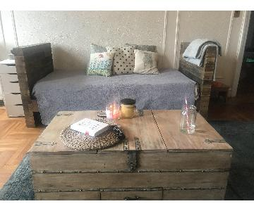 Nadeau Rustic Style Coffee Table