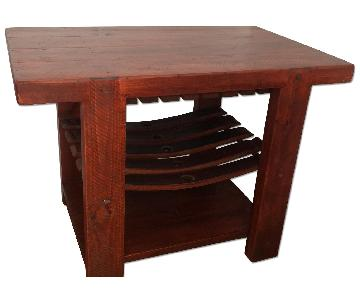 Recycled Barrel Stave Tasting Table