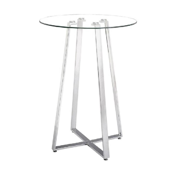 Wildon Home Glass Top High Bar Table ...