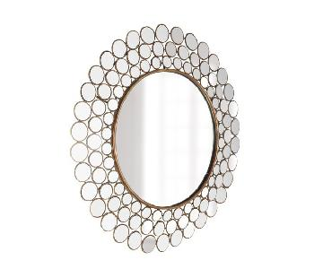 Horchow Mirrored Circles Accent Mirror
