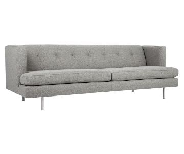 CB2 Avec Sofa w/ Brushed Stainless Steel Legs