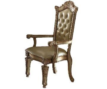 Acme Vendome Arm Chair in Gold Patina