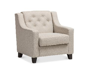 Macy's Arcadia Button-Tufted Chair