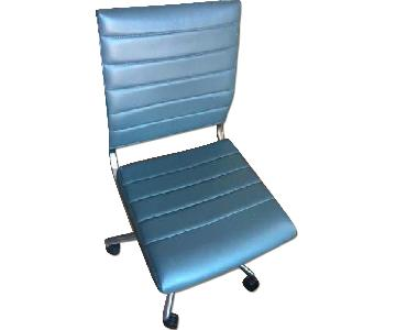 Grey Padded Swivel Office Chair