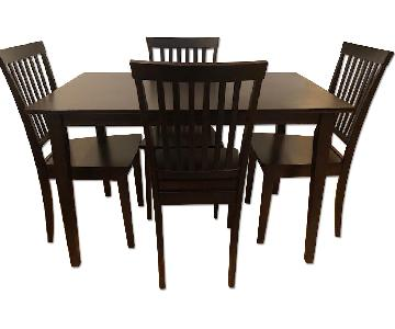 Coaster Dining Table w/ Four Chairs