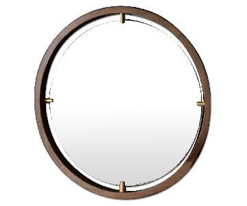 West Elm Floating Suspension Round Mirror