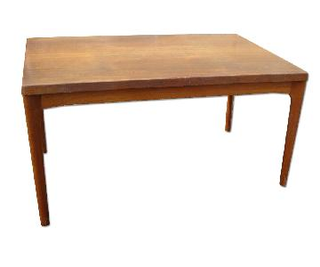 Vintage Expandable Solid Teak Dining Table