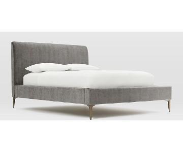 West Elm Andes Deco Upholstered Bed