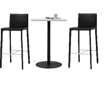 BoConcept Bonn Bar Table w/ 2 Zarra Stools