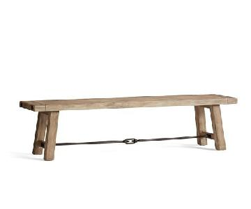 Pottery Barn Benchwright Dining Bench in Seadrift