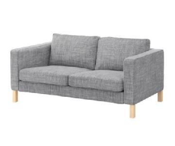 Ikea Karlstad Loveseat in Light Gray Isunda