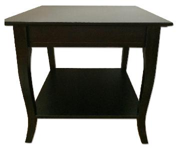Pier 1 Dark Wood End Table