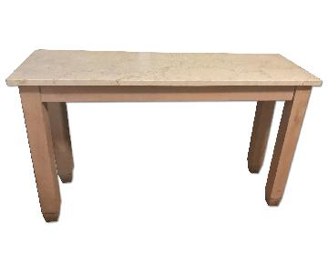 Crate & Barrel Parsons High Marble Top Dining Table
