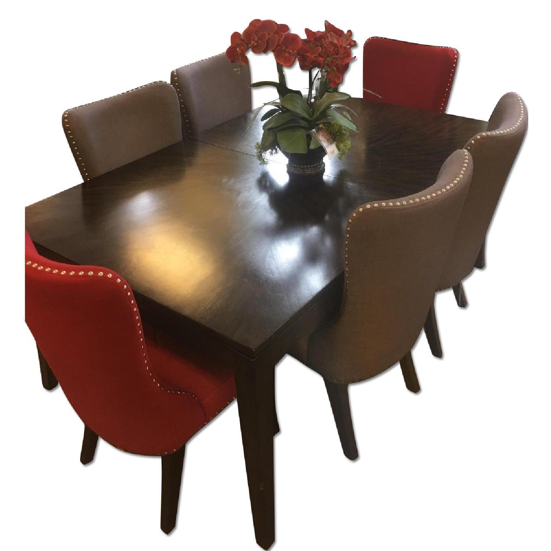 Raymour & Flanigan Glamour 7 Piece Dining Set