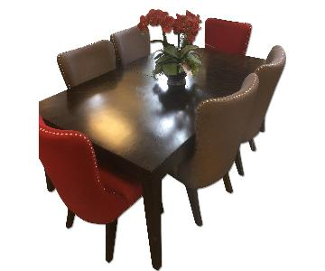 Raymour & Flanigan Glamour 7 Piece Dining Set