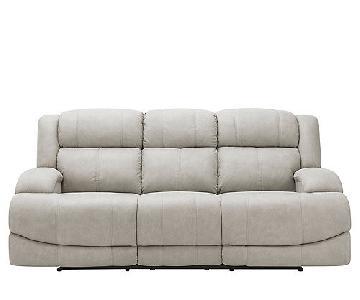 Raymour & Flanigan Power Reclining Sofa w/ Power Headrest