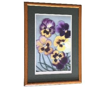 Pansy Floral Framed Photograph
