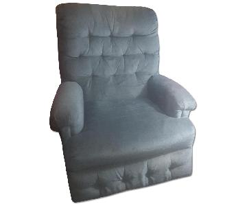 Apartment Size Blue Rocker Recliner