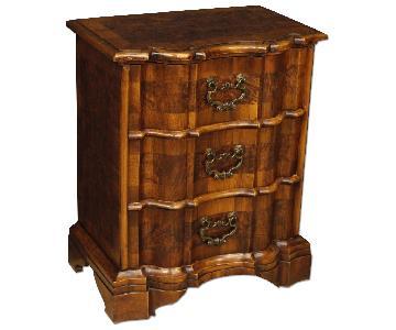 Venetian Bedside Tables in Walnut & Burl Walnut