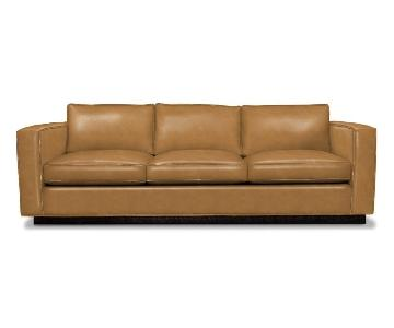 Jonathan Alder Blakeley Leather Sofa