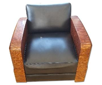 Art Deco Refurbished Leather Chair