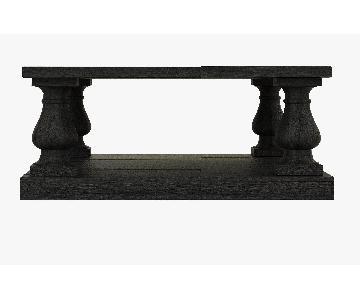 Restoration Hardware Black Salvaged Wood Coffee Table
