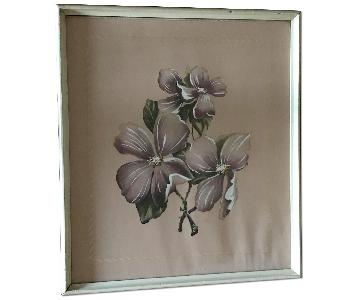 Vintage Pink Floral Print