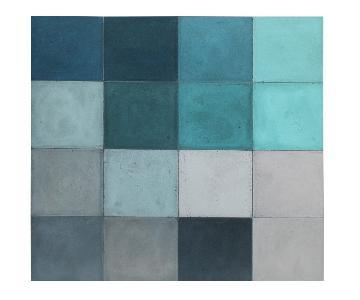 Mitchell Gold + Bob Williams Blue Blocks Wall Art