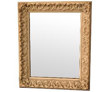 Vintage Shabby Chic Ornate Mirror