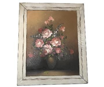 Shabby Chic Floral Oil Painting